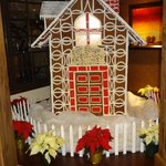 A life-sized Gingerbread House in the lobby.