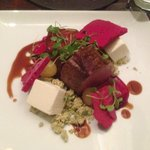 Lamb with goats cheese and beetroot - worked beautifully
