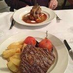 Lamb and Rib Eye Steak