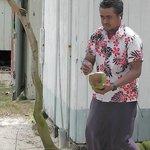 Fresh coconut milk - yum!