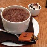 Heavenly dark hot chocolate