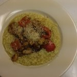 Chicken, Peppers & Mushrooms over Lemon Risotto