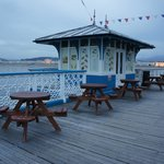 Daytime cafe on the pier