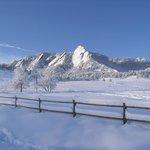 Fresh Snow on the Flatirons