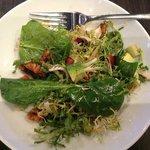 Thanksgiving - Avocado Baby Green Salad & balsamic vinaigrette