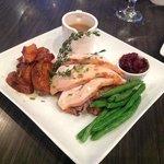 Thanksgiving - Roast Turkey 'N Confit, orange cranberry jam & mushroom walnut brioche stuffing