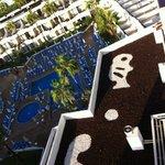 vue de notre balcon au 9eme etage