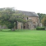Cleeve Abbey,gate house with view.