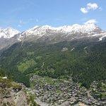 View over Zermatt from Edelweiss
