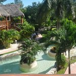 View from room - a garden palapa