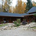 Blick auf die Lodge
