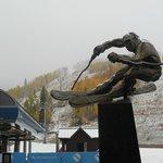 The skier at Vail
