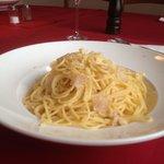 Spaghetti alla grana con tartufo bianco