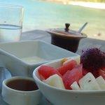 Breakfast on the beach- yum!