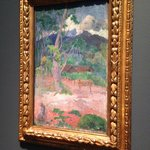 Paul Gauguin - Landscape with a Horse  (oil on burlap)