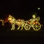 Lighted Horse and Carriage, Outdoor Decor