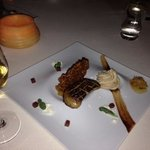 Seared Hudson Valley Foie Gras with Pumpkin Spice Funnel Cake