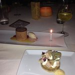 Gila River Mesquite Short Bread and Chocolate Mousse and Hazelnut Ice Cream