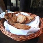 The toast keeping the napkin warm