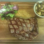 Special of the day, Rib eye steak.