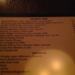 The first time we've seen Mogen David on a list of dessert wines at an upscale restaurant