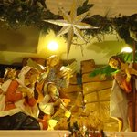 One of the many nativity displays in the Christmas shop in the mall.