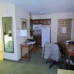 desks and kitchenette