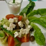 Greek salad, not worth the 290 Baht