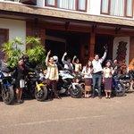 Big Bike trip: Ananda, Louise Scott and Joni Anva