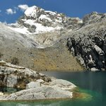 Churup is a glacier fed lake