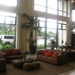 bright, inviting lobby