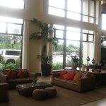 bright, inviting lobby