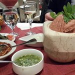 Kebah Naih (local tartare steaik with garlic)