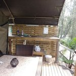 Outdoor sink, kitchen area on verandah