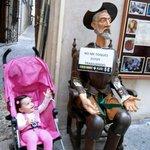Don Quixote greets guests