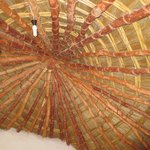 Thatched roof from inside chalet
