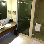The bathroom - with a sauna(!)