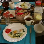Example sumptuous organic breakfast