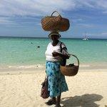 Beach fruit vendor