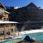 Outdoor heated hotel pool