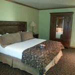 Comfy king bed at Parkway Inn