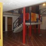 Hall de entrada do predio de apartamentos