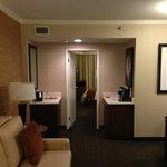 Utility area of suite