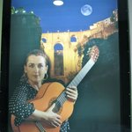 Advertisement for Cecilia Morales - traditional flamenco guitar