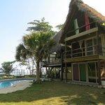 Cabana com a piscina