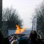 Réveil de la flamme lors des jeux de Turin en 2006