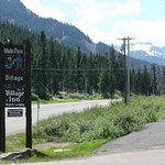 White Pass Village Inn sign on Hwy 12