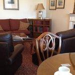 The spacious Bobby Jones living room