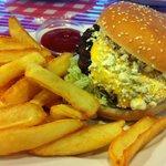 Hamburger with Blue Cheece at Möysä Lahti Finland