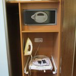 Ironing board and room safe